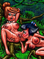 Big black toon guy shows off his dick to seduce white girl to sex